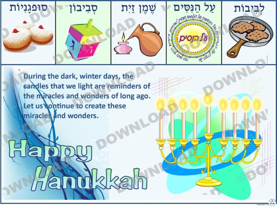 Hanukkah Quote Poster (a downloadable item)