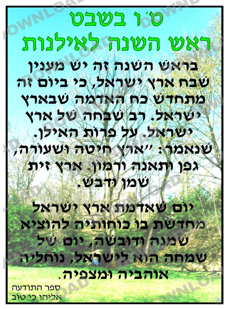 Tu BiSh'vat Text Source Poster (a downloadable item)