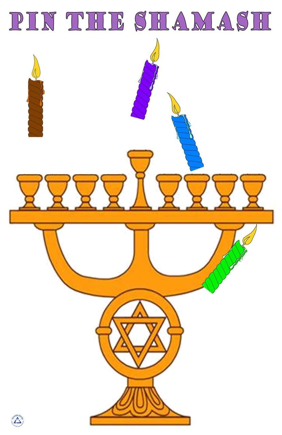 Pin the Shammash on the Menorah