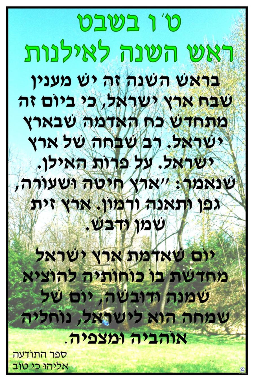Tu BiSh'vat Text Source Poster