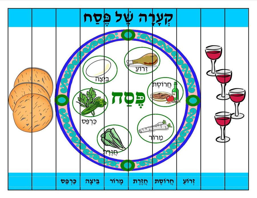 Seder Plate Cut-Apart Puzzle