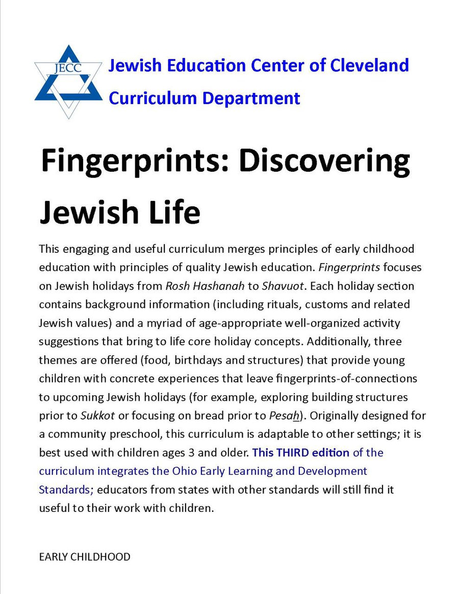 Fingerprints: Discovering Jewish Life (Early Childhood)