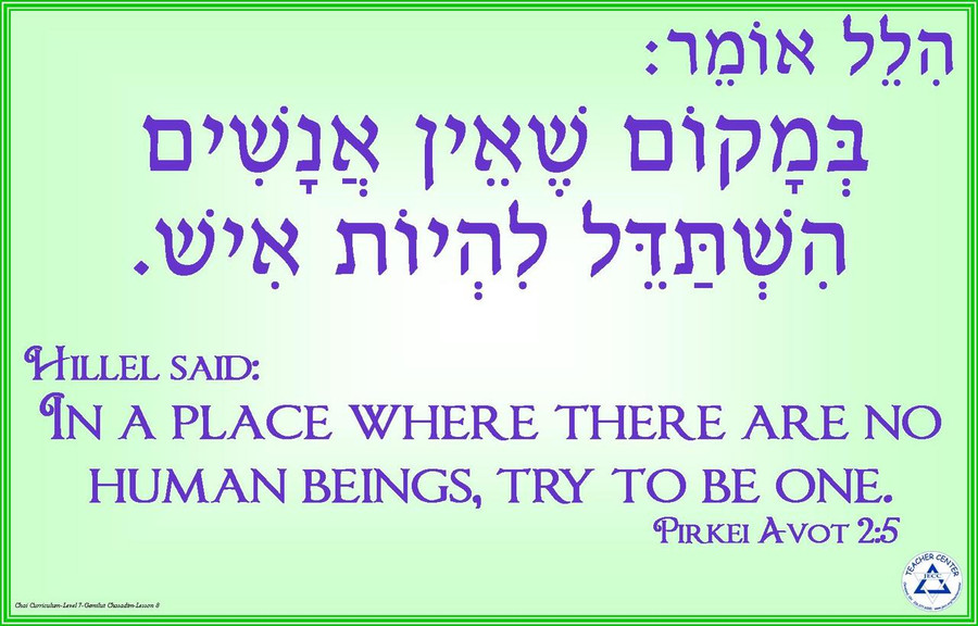 Hillel Omer Poster: Strive to be Human