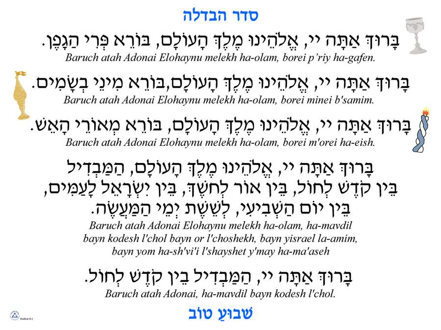 Seder Havdalah Poster