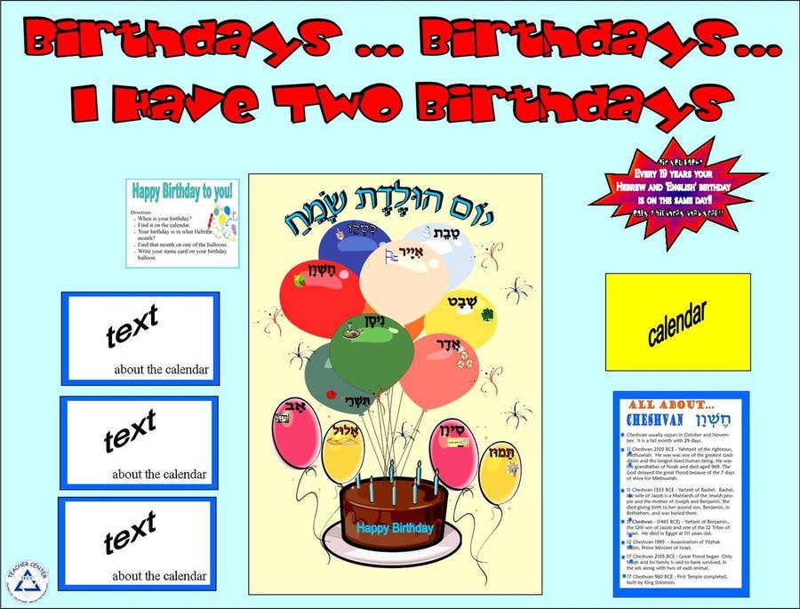 Birthdays...Birthdays...I Have Two Birthdays: Bulletin Board Kit (BB-2)