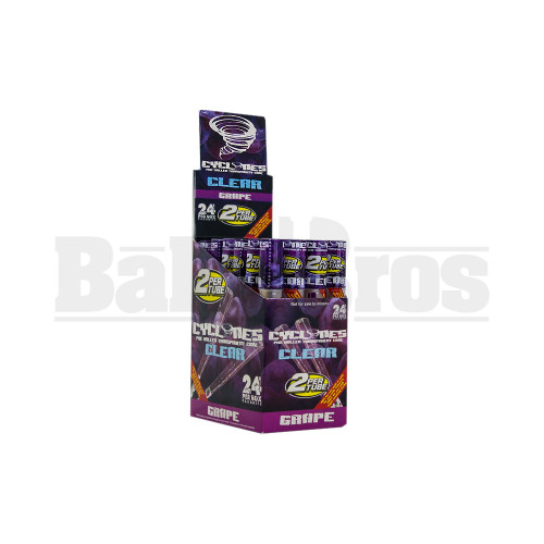 CYCLONES PRE ROLLED CONES CLEAR GRAPE Pack of 24