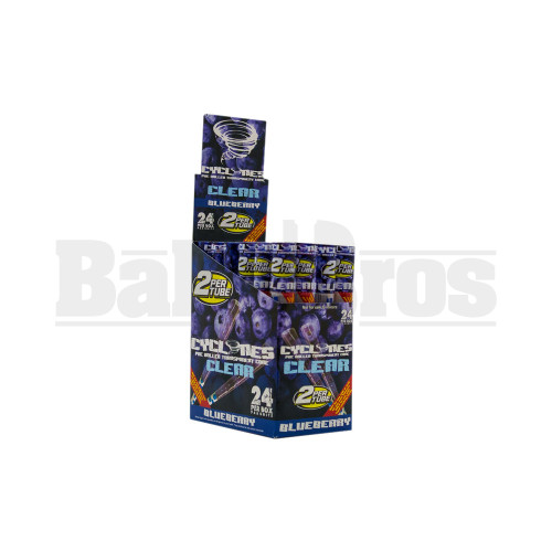 CYCLONES PRE ROLLED CONES CLEAR BLUEBERRY Pack of 24