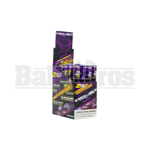 CYCLONES PRE ROLLED CONES GRAPE Pack of 24