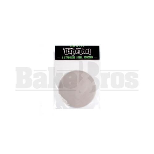 """VAPETOOL STAINLESS STEEL FILTER SCREENS 6.5"""" DIAMETER / 3 SCREENS STEEL Pack of 1"""