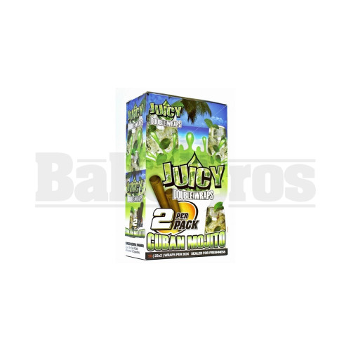 JUICY JAY'S DOUBLE 2 WRAPS CUBAN MOJITO Pack of 25