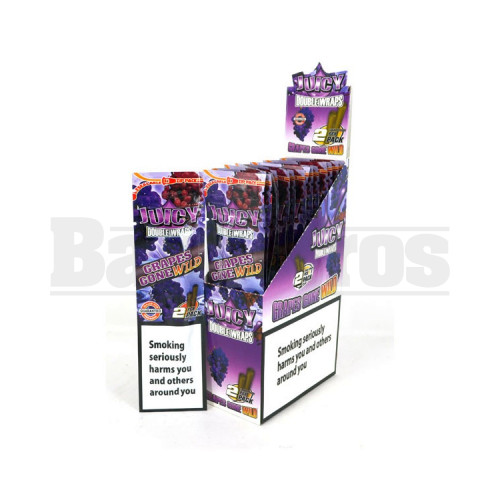 JUICY JAY'S DOUBLE 2 WRAPS GRAPE Pack of 25