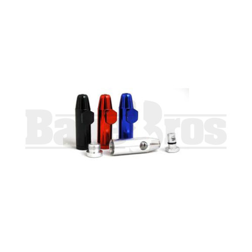 METAL SNUFF BULLET CONTAINER ASSORTED COLORS Pack of 1