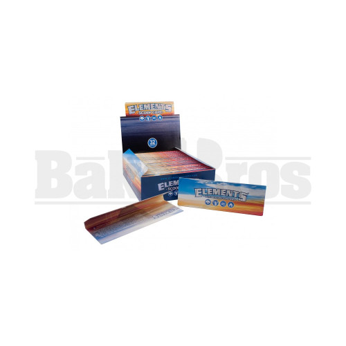 ELEMENTS SCOOP CARD FOR ROLLING PAPERS UNFLAVORED Pack of 32