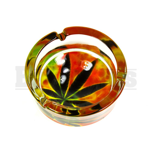 "ASHTRAY GLASS PREMIUM DESIGN 3"" DIAMETER ASSORTED DESIGN"