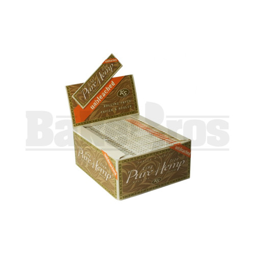 PURE HEMP ROLLING PAPERS UNBLEACHED KING SIZE 33 LEAVES UNFLAVORED Pack of 50