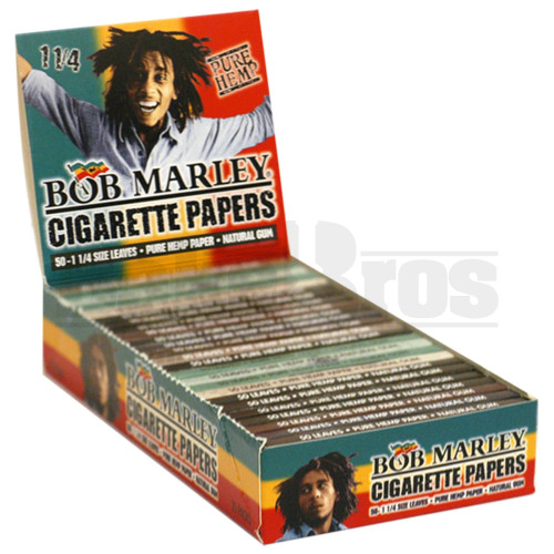 BOB MARLEY ROLLING PAPERS 1 1/4 50 LEAVES UNFLAVORED Pack of 25