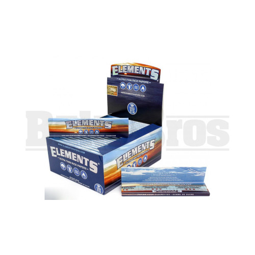 ELEMENTS ROLLING PAPERS KING SIZE 33 LEAVES UNFLAVORED Pack of 50