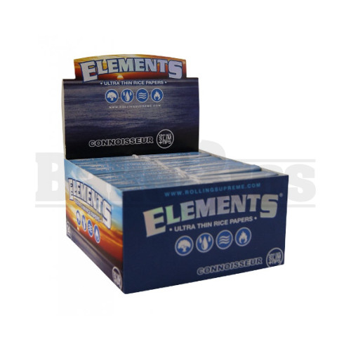 ELEMENTS ROLLING PAPERS CONNOISSEUR KING SIZE 33 LEAVES UNFLAVORED Pack of 24