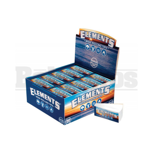 ELEMENTS WIDE TIPS 50 TIPS UNFLAVORED Pack of 50