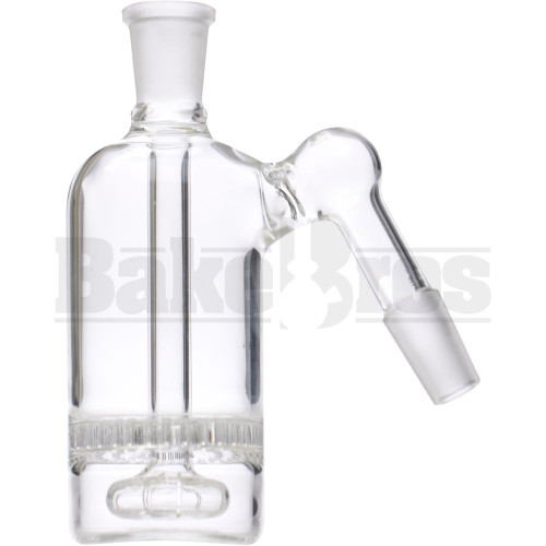 ASHCATCHER HONEYCOMB & SHOWERHEAD PERC ANGLE JOINT CLEAR MALE 14MM