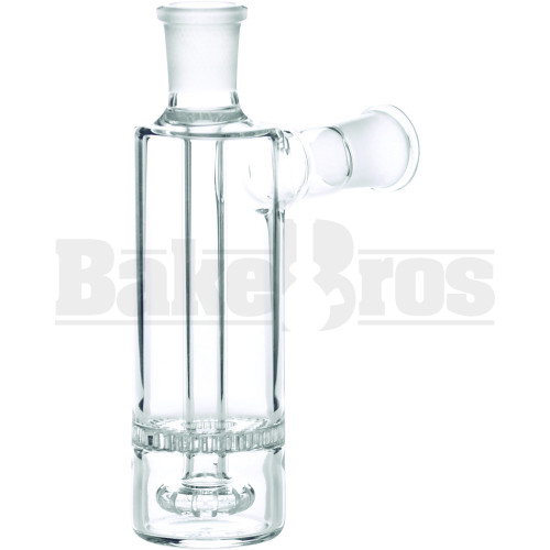ASHCATCHER SHOWERHEAD HONEYCOMB PERC FEMALE ADAPTER ELBOW JOINT 90* CLEAR MALE 18MM