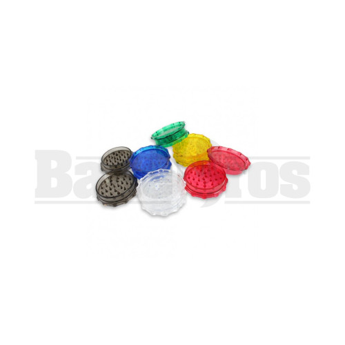 """2"""" ACRYLIC POLLEN GRINDER ASSORTED COLORS Pack of 1"""
