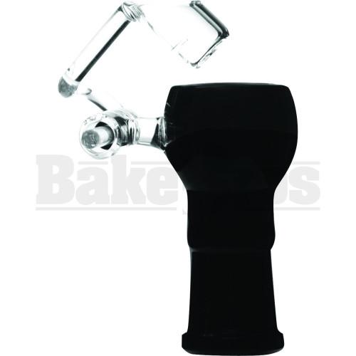 FEMALE HONEYBUCKET SWIVEL ARM QUARTZ GLASS BLACK 18MM