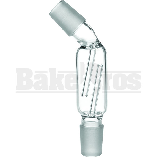 MALE TO MALE ASHCATCHER ADAPTER 135* CLEAR MALE 18MM 18MM MALE