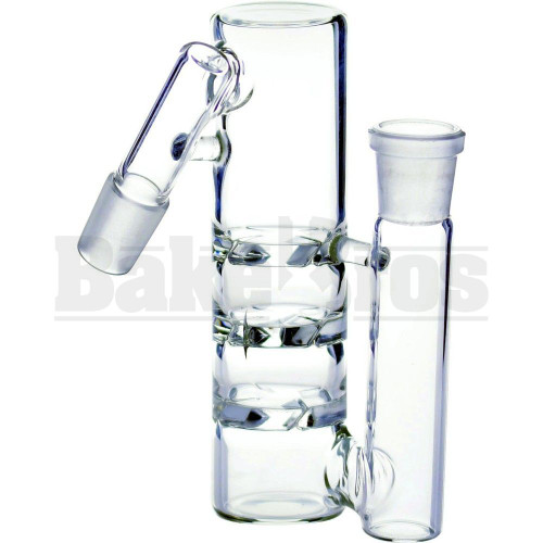 """ASHCATCHER 1.5"""" DIAM 3X TURBINE DISK PERC L CONFIG 45* ANGLE JOINT CLEAR MALE 14MM"""