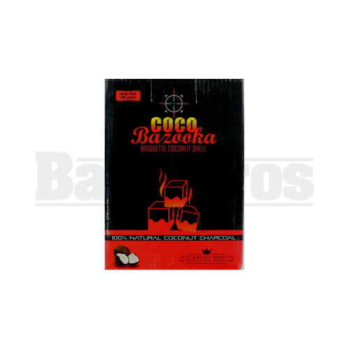 COCO BAZOOKA 100% COCONUT SHELL CHARCOAL NATURAL Pack of 108