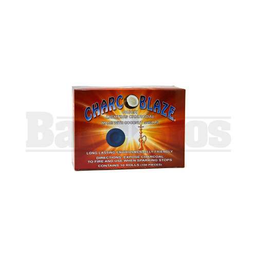 CHARCOBLAZE 100% COCONUT SHELL CHARCOAL QUICK LIGHT NATURAL Pack of 100