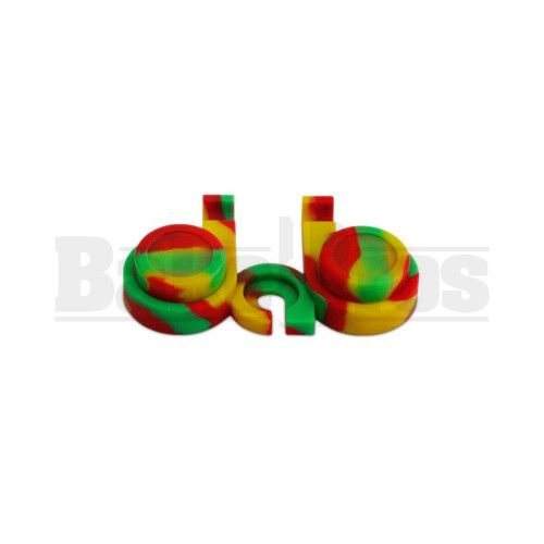 """DAB STAND SILICONE NON-STICK W - 2 CONTAINERS RASTA Pack of 1 1"""" DIAMETER"""