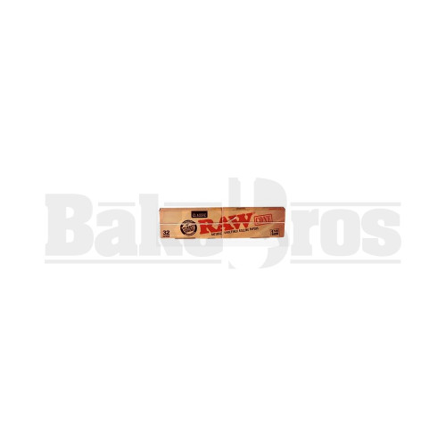 RAW CONES NATURAL UNREFINED ROLLING PAPERS 1 1/4 (32CONES) UNFLAVORED Pack of 1