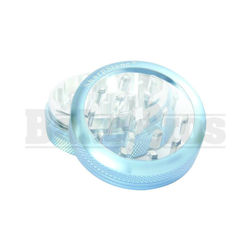 "SHARPSTONE CLEAR TOP GRINDER 2 PIECE 2.2"" BLUE Pack of 1"