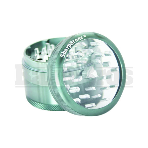 """SHARPSTONE CLEAR TOP GRINDER 4 PIECE 2.5"""" GRAY Pack of 1"""