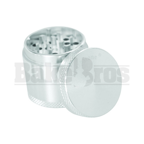 "SHARPSTONE HARD TOP GRINDER 4 PIECE 1.5"" SILVER Pack of 1"
