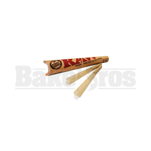 RAW CONES 1 1/4 NATURAL UNREFINED 6 PAPERS UNFLAVORED Pack of 1