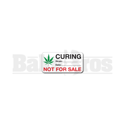 """MEDICAL LABELS ROLL 3"""" x 1"""" CURING - NOT FOR SALE Pack of 1 248 Per Pack"""