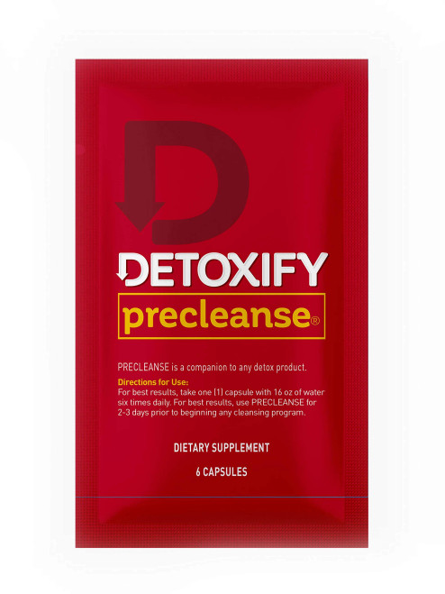 Detoxify Brand Precleanse Herbal Dietary Supplement Unflavored 6 Capsules