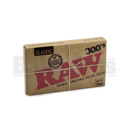 RAW NATURAL PAPERS 1 1/4 300 LEAVES UNFLAVORED Pack of 1
