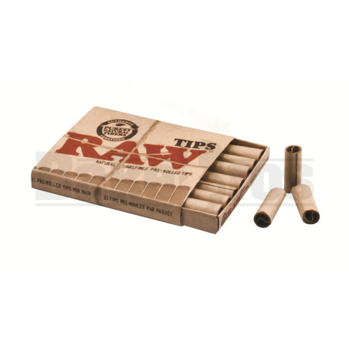RAW ROLLING PAPERS CLASSIC PRE ROLLED TIP (21 TIPS PER PACK) UNFLAVORED Pack of 1