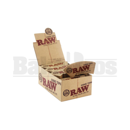RAW NATURAL ROLLING CONE TIPS PERFECTO 32 TIPS UNFLAVORED Pack of 24