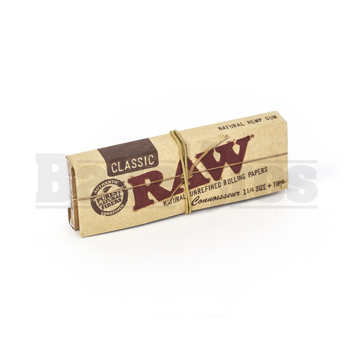 RAW NATURAL PAPERS + TIPS 1 1/4  CONNOISSEUR 32 LEAVES UNFLAVORED Pack of 1