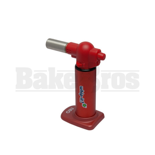 """WHIP-IT BUTANE LIGHTER TORCH NEO RED Pack of 1 6"""""""