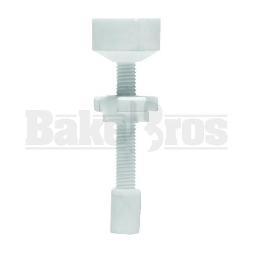 18MM NAIL CERAMIC THREADED ADJUSTABLE WHITE FEMALE