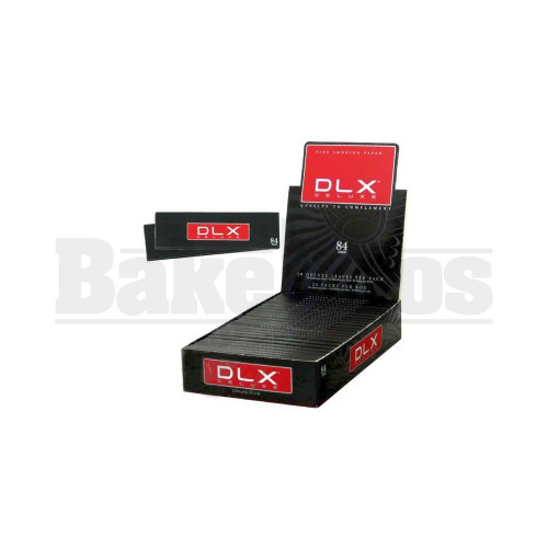 DLX DELUXE ROLLING PAPERS 84MM 50 LEAVES UNFLAVORED Pack of 24