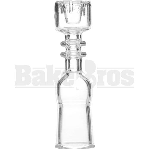 14MM NAIL DOMELESS CYLINDER BUCKET CROWN TOP CLEAR FEMALE