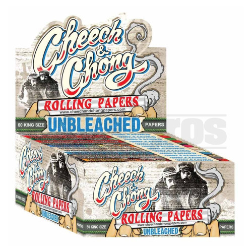 CHEECH & CHONG ROLLING PAPERS UNBLEACHED KINGSIZE UNFLAVORED Pack of 50