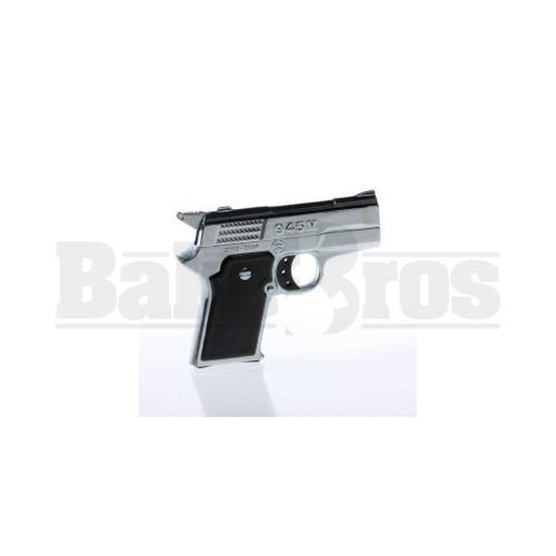 945M PISTOL GUN HANDHELD POCKET LIGHTER 2X FLAME ASSORTED COLORS Pack of 1