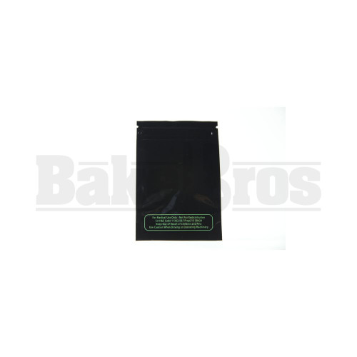"""MYLAR BAGS SMELL PROOF TEAR NOTCH 5"""" x 3.5"""" BLACK / CLEAR Pack of 1 50 Per Pack"""